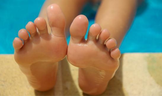 Aloe Vera for happy feet